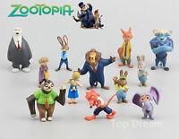 12Pcs Movie Zootopia Nick Wilde Judy Hopps Action Figures Toys Cake Topper New