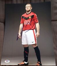 WAYNE ROONEY SIGNED AUTOGRAPH MANCHESTER UNITED PROMO 11X14 PHOTO PSA/DNA Y63386