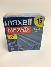 Maxell MF 2HD 3.5'' High Density Floppy Disks 15 Pack 1.44MB New In Box