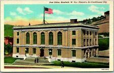 Bluefield, West Virginia Postcard POST OFFICE Building View Curteich Linen 1930s