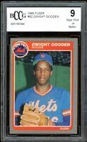 1985 Fleer #82 Dwight Gooden Rookie Card BGS BCCG 9 Mint+