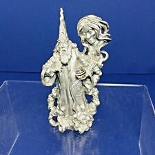 "1992 Perth Pewter #Ac93, 3.5"" Magic Inspiration Wizard Crystal Figure"