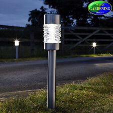 Martello Stainless Steel Solar Stake Lights x 4 - Smart Garden Products