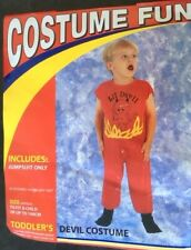 DEVIL BOY TODDLER HALLOWEEN FANCY DRESS COSTUME PARTY AGE 3-4 reduced FREE P+P