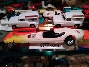 10 DRAGSTER AURORA AFX SLOT CAR DISPLAY STANDS 1/64 HO SCALE WHITE HOT ROD STAND
