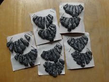 Grey/White stone fan beads style 10 full sets with 7 beads per set 1/2