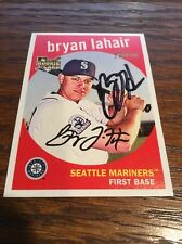 Bryan LaHair Mariners Cubs 2008 Signed Autographed Topps Heritage Card #566~ COA