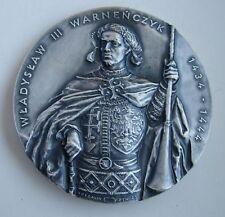 POLISH HUNGARY  KING WLADYSLAW III BATTLE OF VARNA SULTAN MURAD II MEDAL