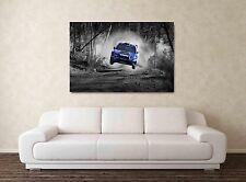 Subaru Impreza WRX STI - 30x20 pulgadas lienzo enmarcado cuadro impresión