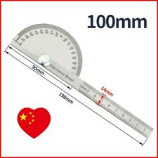 Multi Use Protractor 0 180 Rotary Stainless Steel Machinist Ruler 1 Error