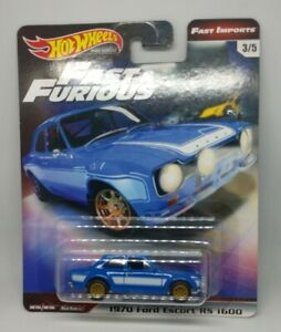 Hot Wheels Premium 2019 Fast & Furious Fast Imports 1970 Ford Escort RS 1600