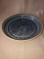 "Blue Clay Flower Pot Base Tray Blue Glazed 7.75"" Rim To Rim"