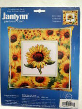 "Janlynn counted cross stitch KIT Sunflowers flower 12"" x 12"" Roger Reinardy"