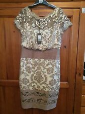 Jennifer Wrynne dress size 14 Cream and taupe