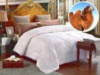 All Season Camel Wool Comforter, Twin, Queen & King. Optional White Duvet Cover