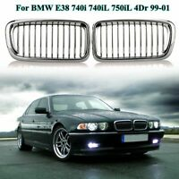 Front Sport Kidney Grilles Grill for BMW E38 740i 740iL 750iL 4Door 99-01