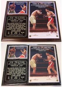 Joe Frazier Heavyweight Champion Boxing Hall of Fame Photo Plaque