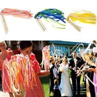 10pcs Wedding Wands Kit Ribbon Sticks with Bell