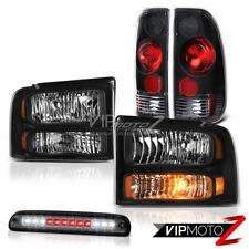 2005 2006 2007 Ford F250 XL Black Headlamps Rear Tail Lights Roof Brake LED Tint