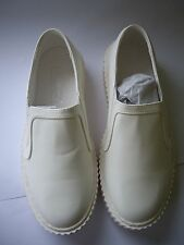 TRUFFLE COLLECTION WOMEN'S WHITE PLATFORM CREEPERS SIZE UK 6 EUR 39