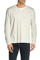 John Varvatos Men's Long Sleeve Crew Neck Pima Cotton Tee Top Egg Shell Size XL