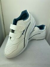 New Propet Vista White WA 2093 Strap Closure Leather Upper Sneaker Size 7.5 Wide