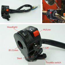 22mm 7/8inch Motorcycle Handlebar ON-OFF Switch Headlight Hi/Lo Beam Controller