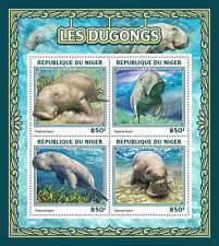 Niger 2016 MNH Dugongs 4v M/S Marine Mammals Wild Animals Stamps