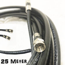 25 M Coax Cable Foxtel Austar Vast Optus Fly Lead F-Type Antenna Aerial Cord TV