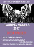 2017 Harley Davidson TOURING Service & Supplement & Electrical Manual Set