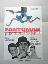 FANTOMAS CONTRE SCOTLAND YARD (1967/FRANCE) ORIGINAL YUGOSLAVIAN MOVIE POSTER
