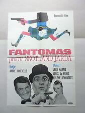 FANTOMAS CONTRE SCOTLAND YARD (1967/FRANCE) ORIGINAL YUGOSLAVIAN MOVIE POSTER