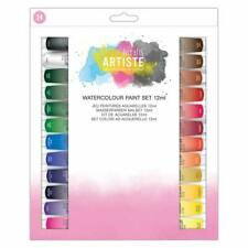 DoCrafts Artiste Acrylic Paint 12ml Pack of 24, Crafters acrylic paints