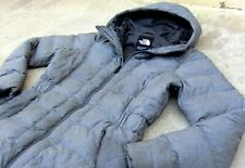 The North Face hooded 550 Goose Down Coat Jacket Women's Size Small Gray