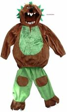 Brown & Green Bear Monster Fancy Dress up Costume Picnic Party 1-2 New