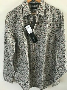 """Paul Smith Gents Formal Tailored Shirt in Floral Print Size 15"""" -17.5"""" -RRP £170"""