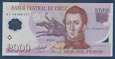 BILLET de BANQUE du CHILI.2000 PESOS Pick n° 160.a de 2004 en NEUF A I 04450117