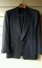 CANALI Barcelino Black Stripe 1 Button Italian Wool Suit 50R 33x30.25 hanger