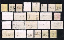 Ceylon old colection stamps (24x) with perforations nice used