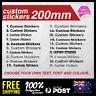 Custom Sticker Personalised Text Name 200mm Lettering Car/Van/Window Shop Decal