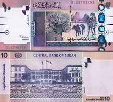 SUDAN 10 POUNDS 2006 UNC CONSECUTIVE 2 PCS PAIR P-67