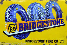 WEATHERED BRIDGESTONE TIRE BUILDING STORE DIORAMA LAYOUT SIGN 3x2 DD76