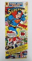 Vintage Rare 1976 DC Comics Super Hero Stamps Superman #DC1 NIB