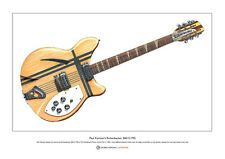 Paul Kantner's Rickenbacker 360/12 Limited Edition Fine Art Print A3 size