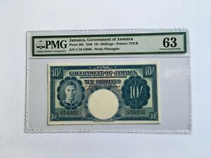 Jamaica P-38b 1940 10/- Shillings - Only one better
