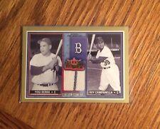 2002 Fleer Rival Factions Yogi Berra 2 Color Yankees Jersey Relic  HOF