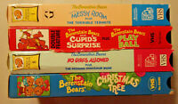4 VHS lot Berenstain Bears Cupid's Surprise Messy Room Christmas Tree No Girls +