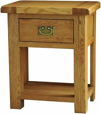Pendle solid oak furniture lamp side end table