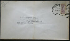 Cover - True 3 Cent Bisect to 1 1/2 Ct 3rd Class Mail rate - Chase Va S10