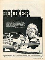 1975 Print Ad of Hooker Headers Bill Grumpy Jenkins Funny Car